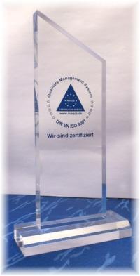 DIN EN ISO 9001 Trophäe